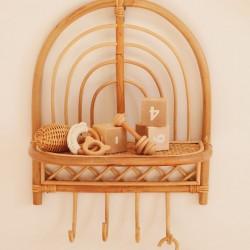 grzechotka drewniana dla niemowlaka