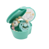 praktyczny pojemnik na smoczek kolor turkus